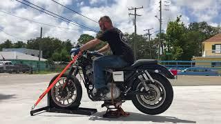 2000 Harley Davidson Sportster Sport XL 1200S (black) 1975 Fallen Cycles