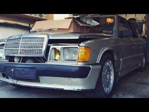 1986 Mercedes Benz 190E 2.3-16 - Barn Finds Junkyard Rescue Part 2