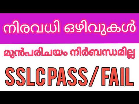 Kerala Job Vacancy  23 / 8 / 2020