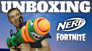 New Fortnite Rocket Launcher Nerf Blaster Unboxing: Double Barrel Shotgun Nerf Mod with Rockets!