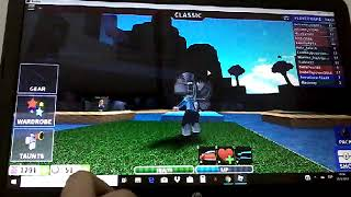 Playing with isa in Cursed Islands in Roblox (recorded mechi)