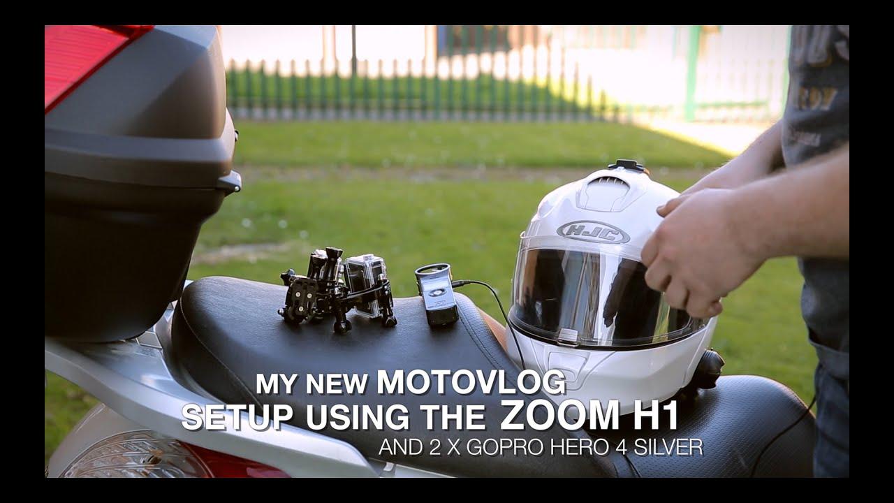 My new motovlog setup - GoPro Hero 4 Silver & Zoom H1