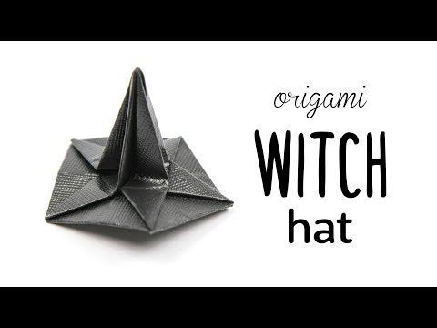 Origami Witch Hat Tutorial - Halloween DIY - Paper Kawaii