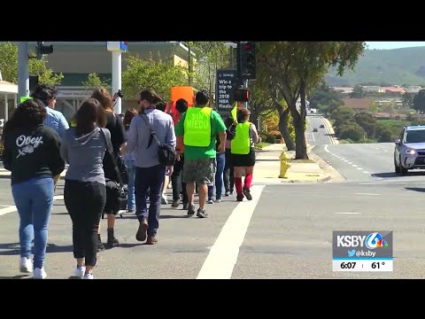 Central Coast students march in remembrance of Columbine High School shooting victims