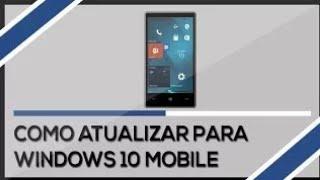 COMO ATUALIZAR QUALQUER LUMIA COM WINDOWS PHONE 8.1 PARA O WINDOWS 10 MOBILE 2021 ATUALIZADO!!!