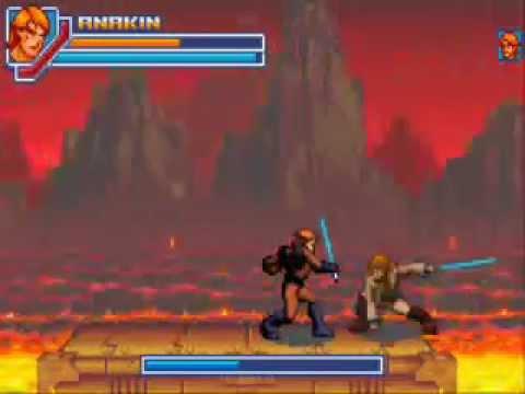 star wars episode iii revenge of the sith gba: anakin vs obi-wan - youtube