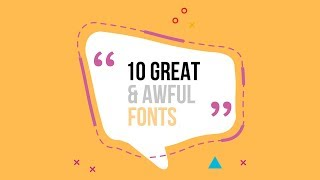 10 Fonts You MUST USE As A Designer