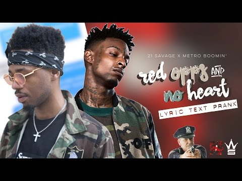 """21 SAVAGE """" RED OPPS & NO HEART """" LYRIC TEXT PRANK ON POLICE OFFICER 
