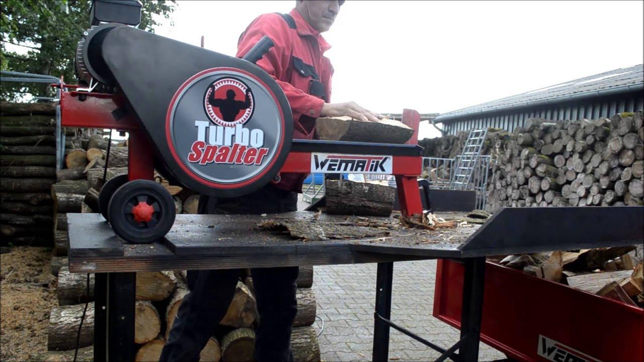 Berühmt Produktvideo Turbo Spalter ECO Schwungradspalter - www.WEMATIK.de &JF_95