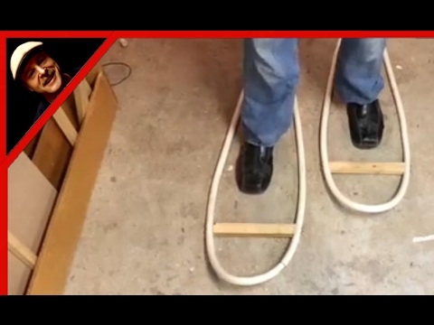 Making Snow Shoes   How To Shape PVC Pipe