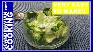 Mormor's Danish Creamy Salad Dressing Recipe. My Grandmother's Salad Dressing For Summer Salads