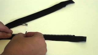 Easy way to shorten a separating zipper