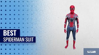 Best Spiderman Suit For Halloween 2018: Iron Spider Spider-Man Homecoming Suit by CosplayLife w/Mask