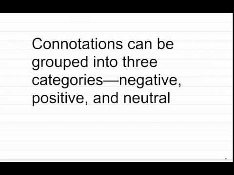 Grade 8 Grammar: Connotation & Denotation