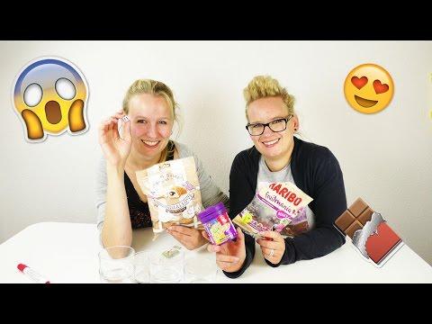 Candy Challenge mit 6 Süßigkeiten   ekligen Jelly Beans, Haribo, Scherzartikel Bonbons   Eva & Kathi