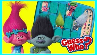 TROLLS Guess Who GAME!  NEW Hasbro Toys!  Guess Who Dreamworks Trolls Game with Poppy & Branch