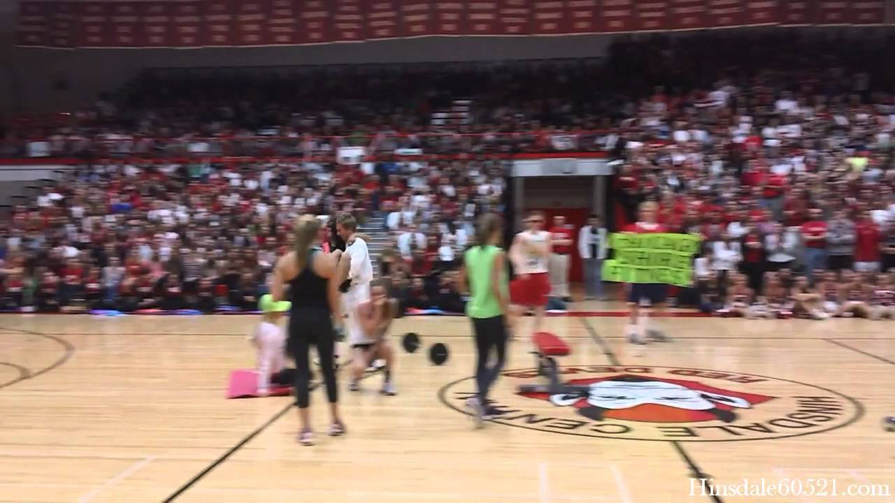 Skits at the hinsdale central homecoming friday pep rally youtube