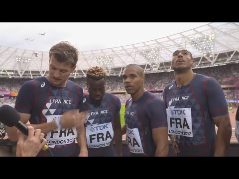 WCH 2017 London –Team France 4X100 Metres relay Heat 2