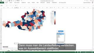 Excel Karte Österreich (Excel-Karte.de) - Kartogramm für Länder & Bezirke und Blasendiagramm