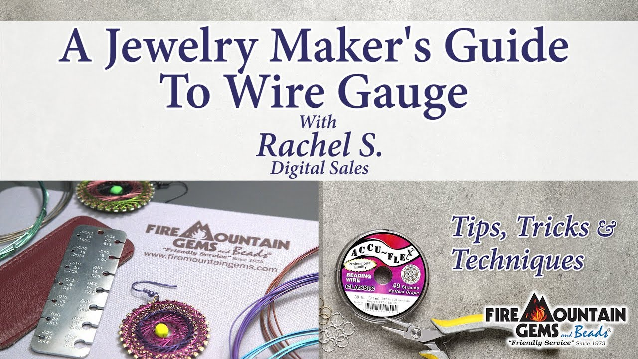 A jewelry makers guide to wire gauge youtube a jewelry makers guide to wire gauge greentooth Image collections