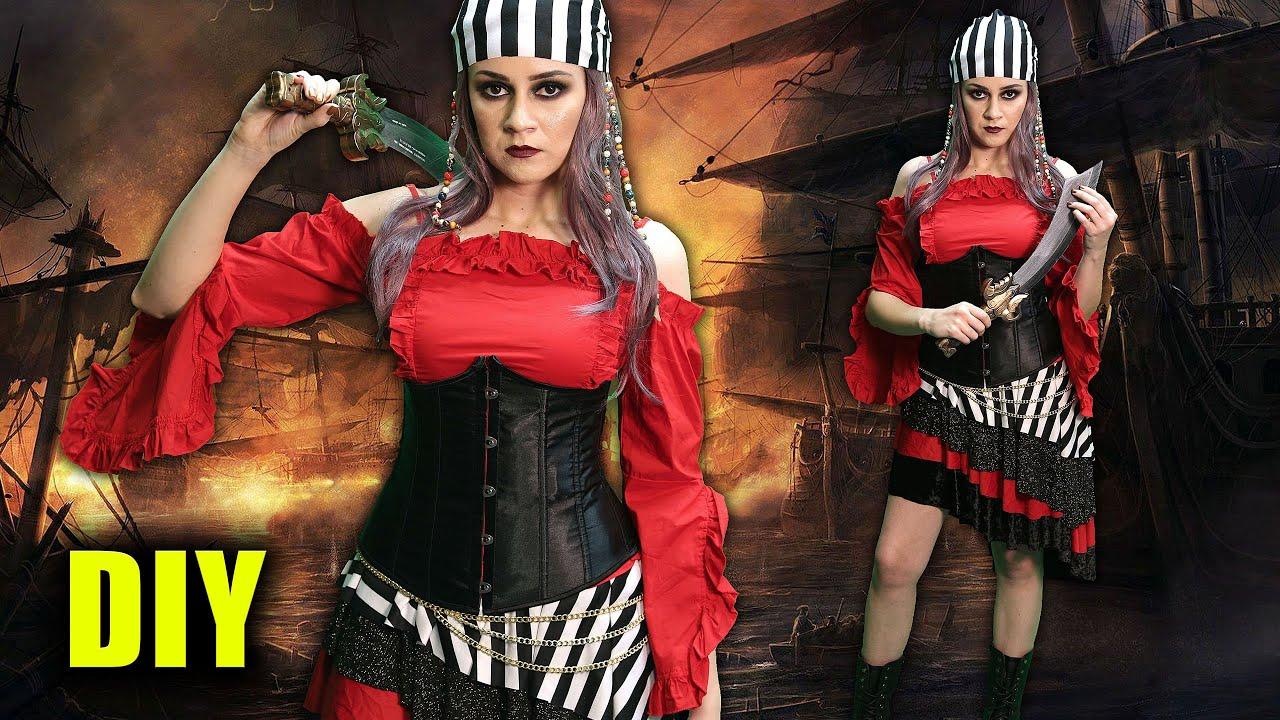Diy Easy Pirate Halloween Costume Lucykiins