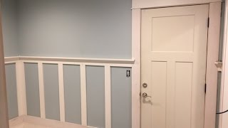 How to Install Craftsman Style Wainscoting ep5