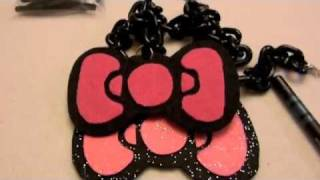 How to Make $4 Hello Kitty Bow Necklace Thumbnail