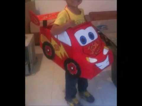 Auto de carton rayo mcqueen youtube - Como hacer un carrito de chuches paso a paso ...