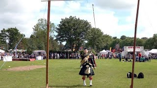 Masters of the Mace o' the banner Drum Major competition at Oldmeldrum Highland Games, Scotland 2019