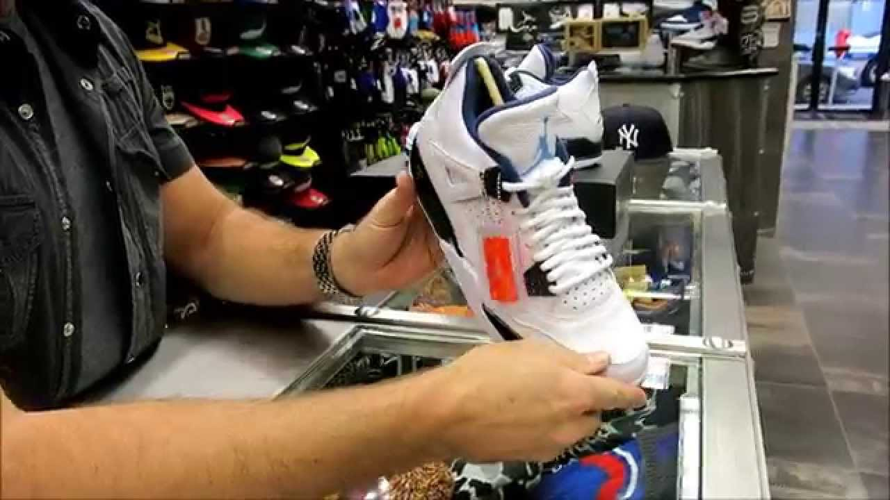 size 40 2173d c6e55 Nike Air Jordan Retro 4 Legend Blue - at Street Gear, Hempstead NY - YouTube