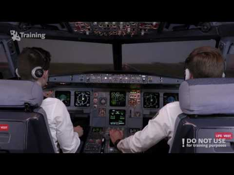 A320 Visual touch-and-go and one gear up landing