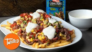 Schwartz BBQ Chimichurri Steak Fries Recipe #ad | How To Make Loaded Fries | Twisted