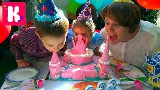 2 000 000 подписчиков подарки для детского дома / Катя принцесса Золушка на карете с шариками