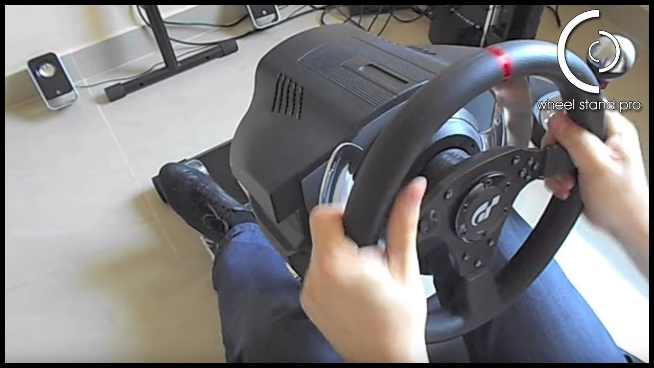 Wheel Stand Pro Deluxe for Thrustmaster T500 RS in action - force feedback  10 (max)