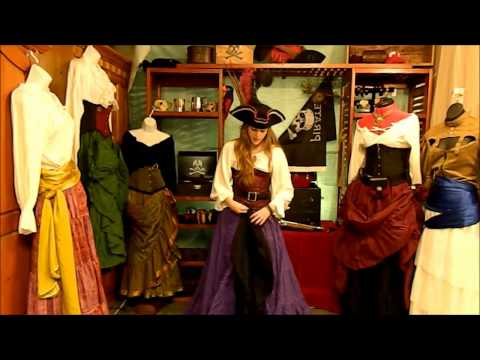How to Drape a Pirate Skirt
