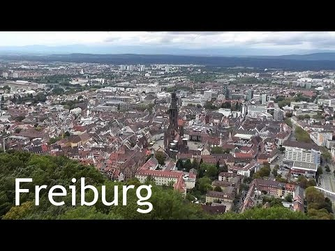 GERMANY: Freiburg city & Schlossberg tower [HD]