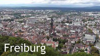 GERMANY: Freiburg city & Schlossberg tower [HD]