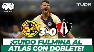 ¡Doblete letal! América derrota a Atlas con doblete de Guido Rodríguez | América 3-0 Atlas | TUDN