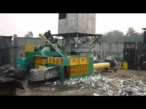 Malaysia using Y81 series scrap metal baler steel aluminum iron copper press machine