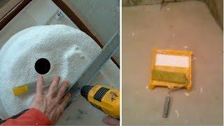 Крепление ножек к ванне. Подготовка стен...Ремонт ванной комнаты. День второй.