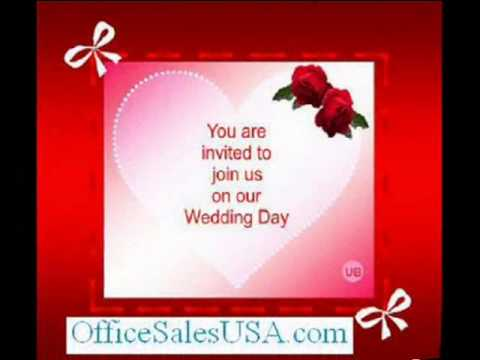 Greeting cards for wedding invitations youtube greeting cards for wedding invitations stopboris Choice Image