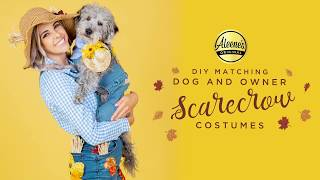 Matching Dog and Owner Scarecrow Costumes Tutorial