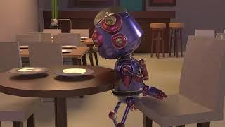 2019 - Sad Robot having dinner Animation