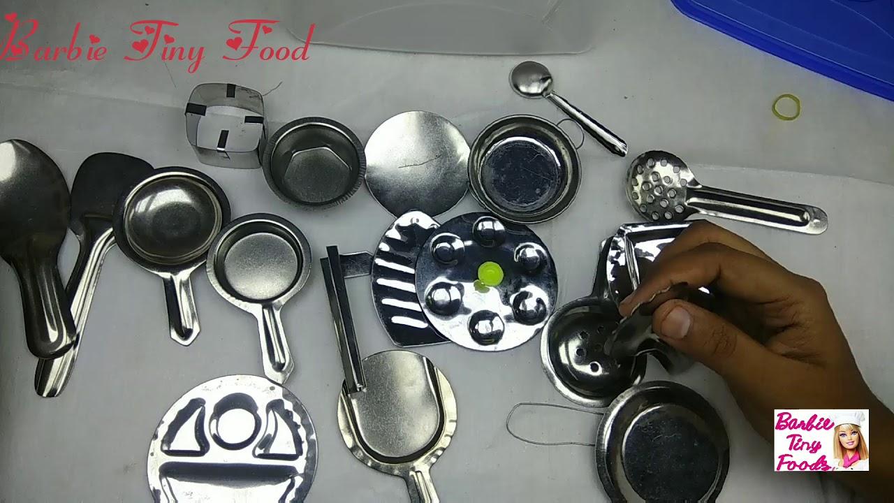 Kids Toy Tiny Kitchenset Mini Kitchen Set Silver 20 Pieces Buy Online Miniaturetoys In India Youtube