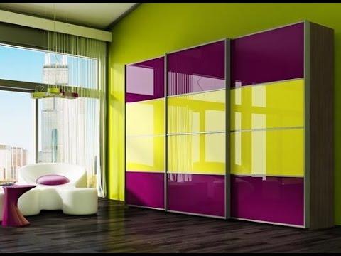 Шкаф купе цветное стекло