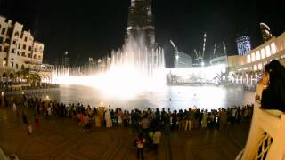Dancing fountain dubai & Michael Jackson - Thriller