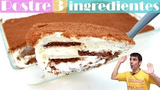 DESSERT with only 3 extremely delicious INGREDIENTS en in 10 MINUTES of work! 🍰🥧