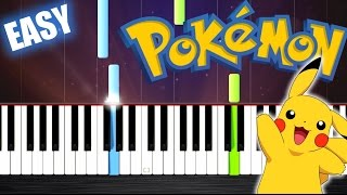Pokemon Theme - EASY Piano Tutorial by PlutaX.mp3