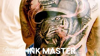 Teej Poole's Challenging 35 Hour Master Canvas | Ink Master: Grudge Match (Season 11)