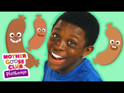 Funny Food Game | Five Fat Sausages | Mother Goose Club Playhouse Kids Video